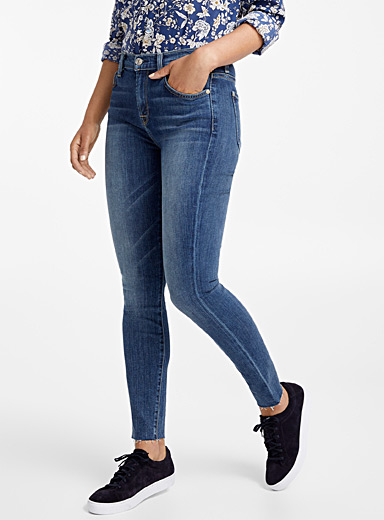 High-rise ankle skinny jean