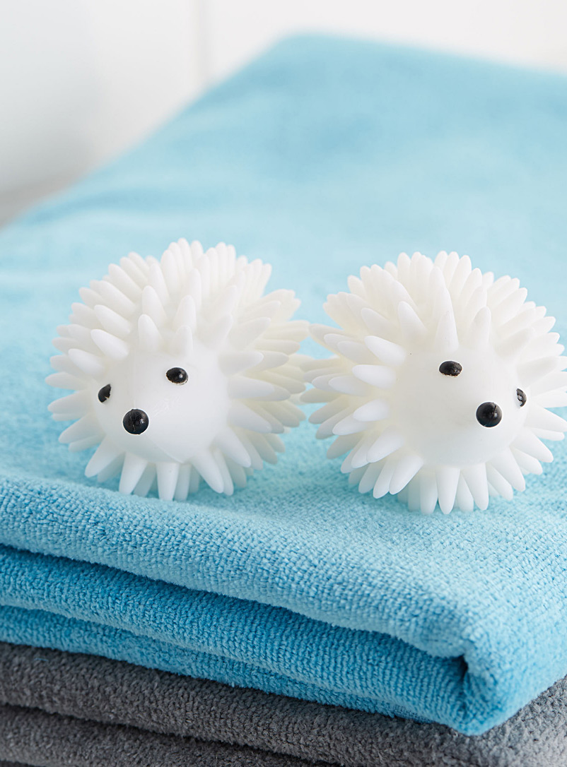 Hedgehog dryer balls - Baskets & Storage - White