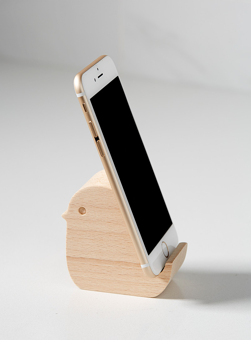 Chirping smart phone holder