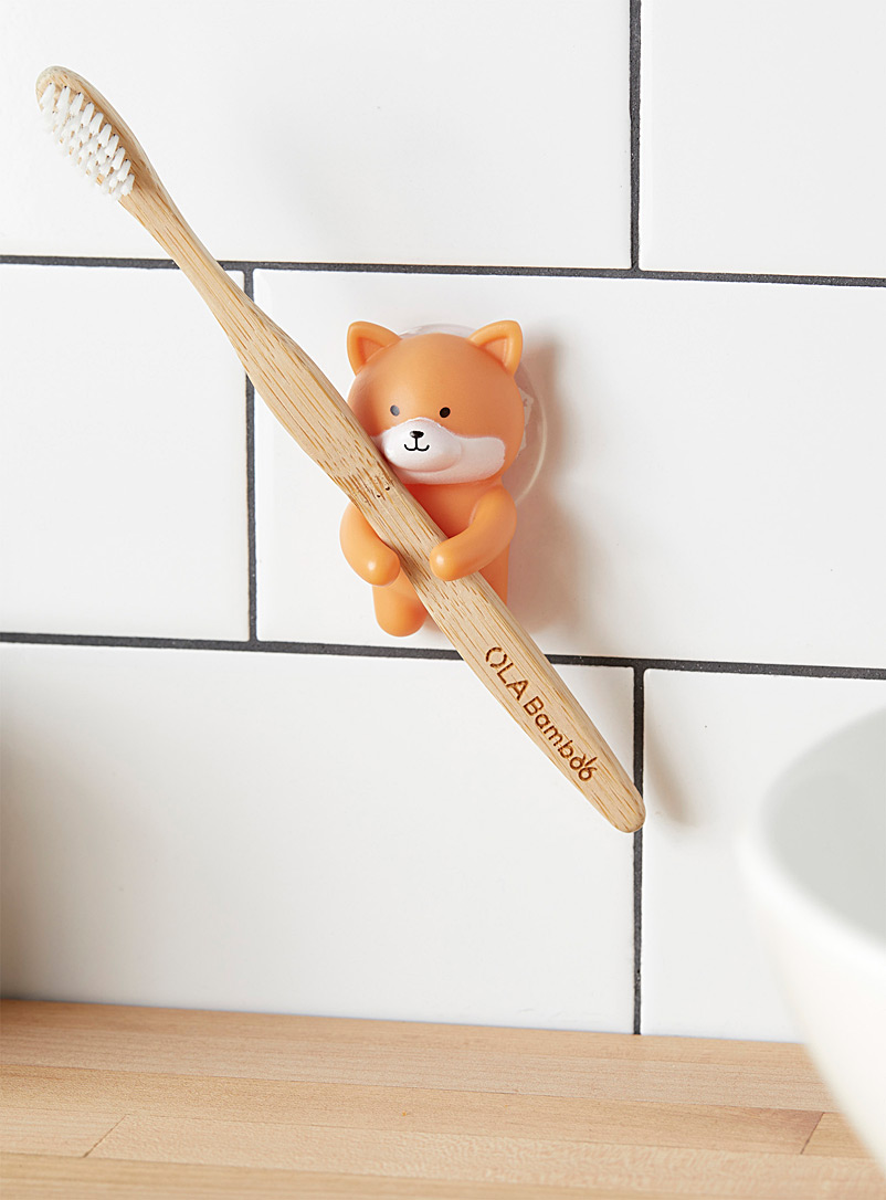 Simons Maison Light Orange Ginger dog toothbrush holder