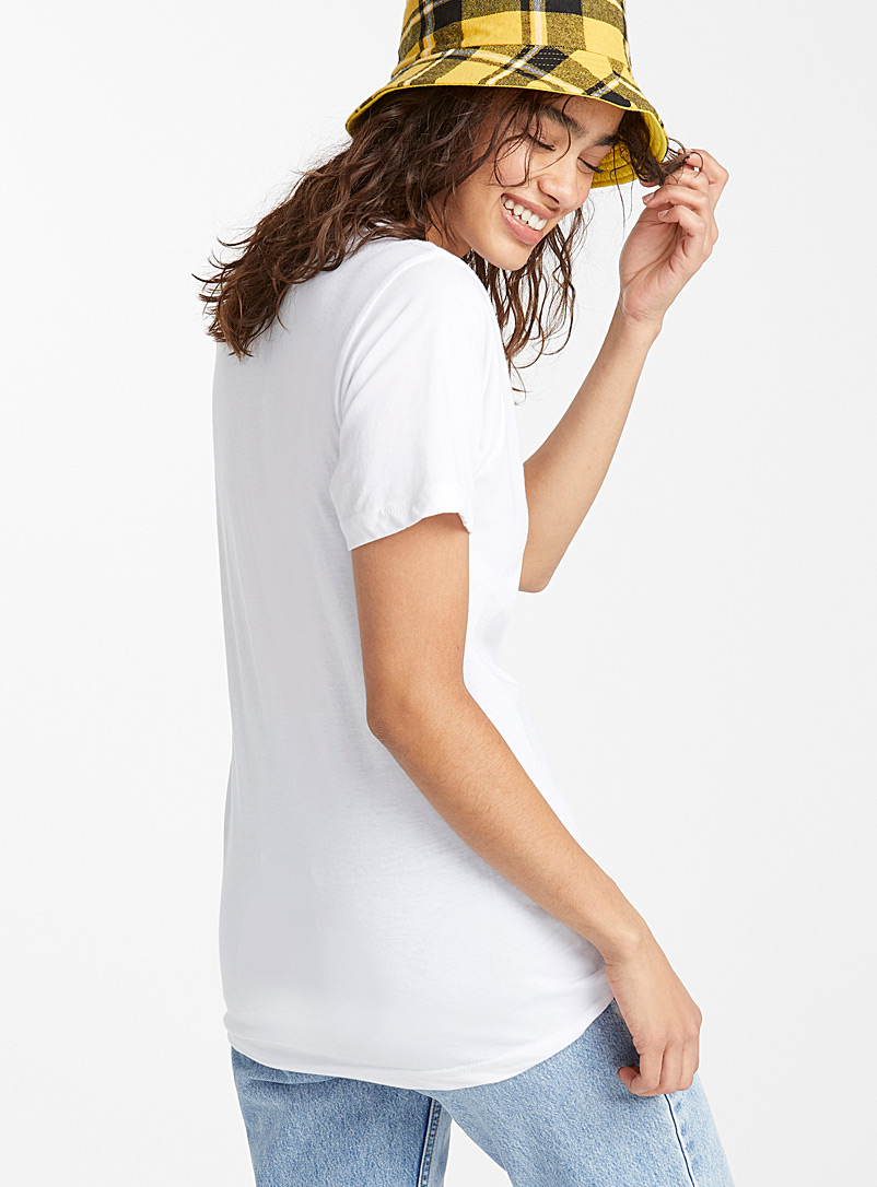 Cat pocket T-shirt - Short Sleeves & ¾ Sleeves - White