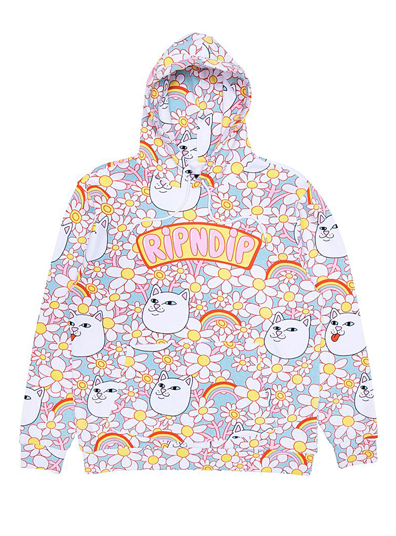 RIPNDIP Assorted Cat and flowers hoodie for women