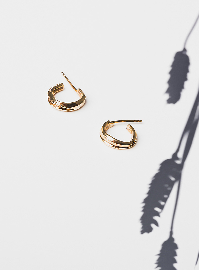 Vermeil gold Edith earrings