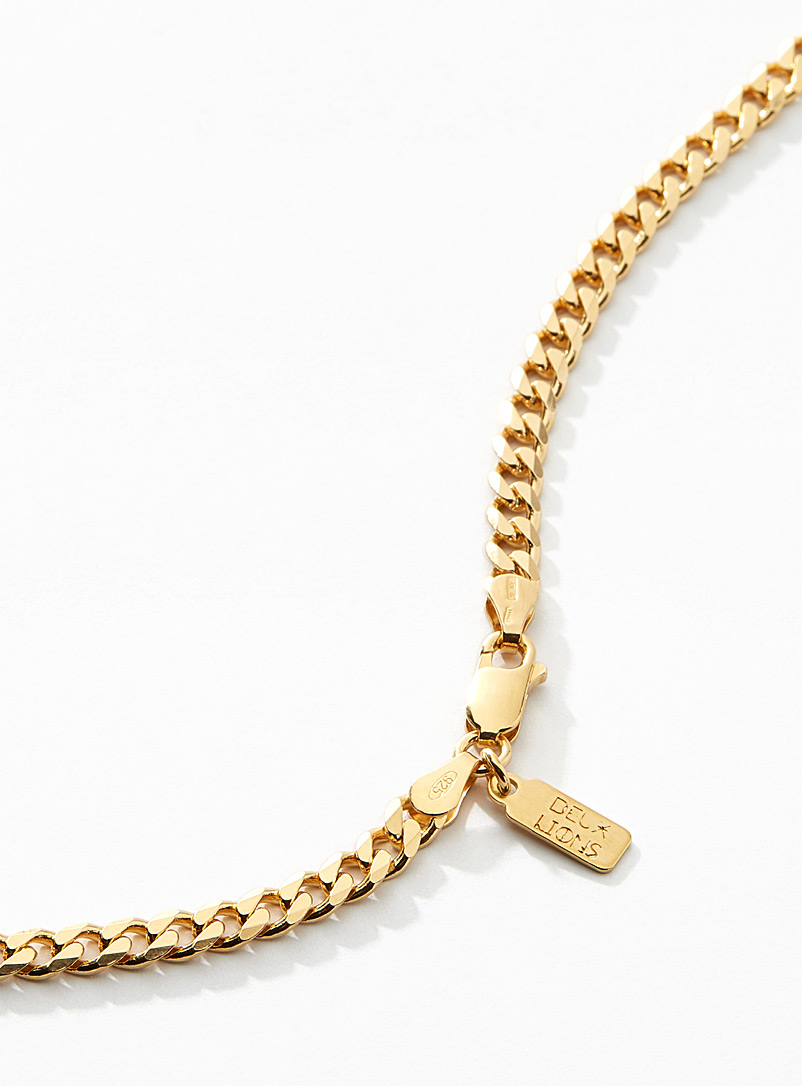 Vermeil gold Cuban-link chain - Deux Lions - Assorted