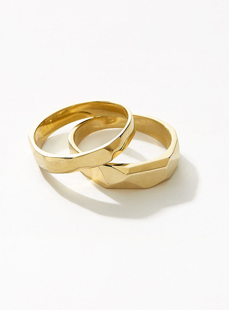Deux Lions Assorted Gold Wild stack rings