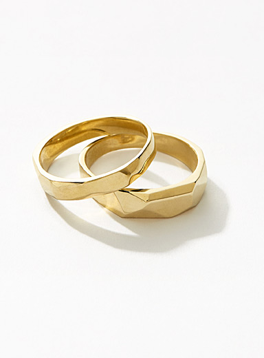Gold Wild stack rings