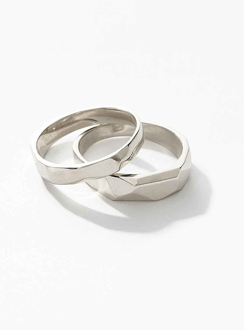 Deux Lions Silver Sterling silver Wild stack rings