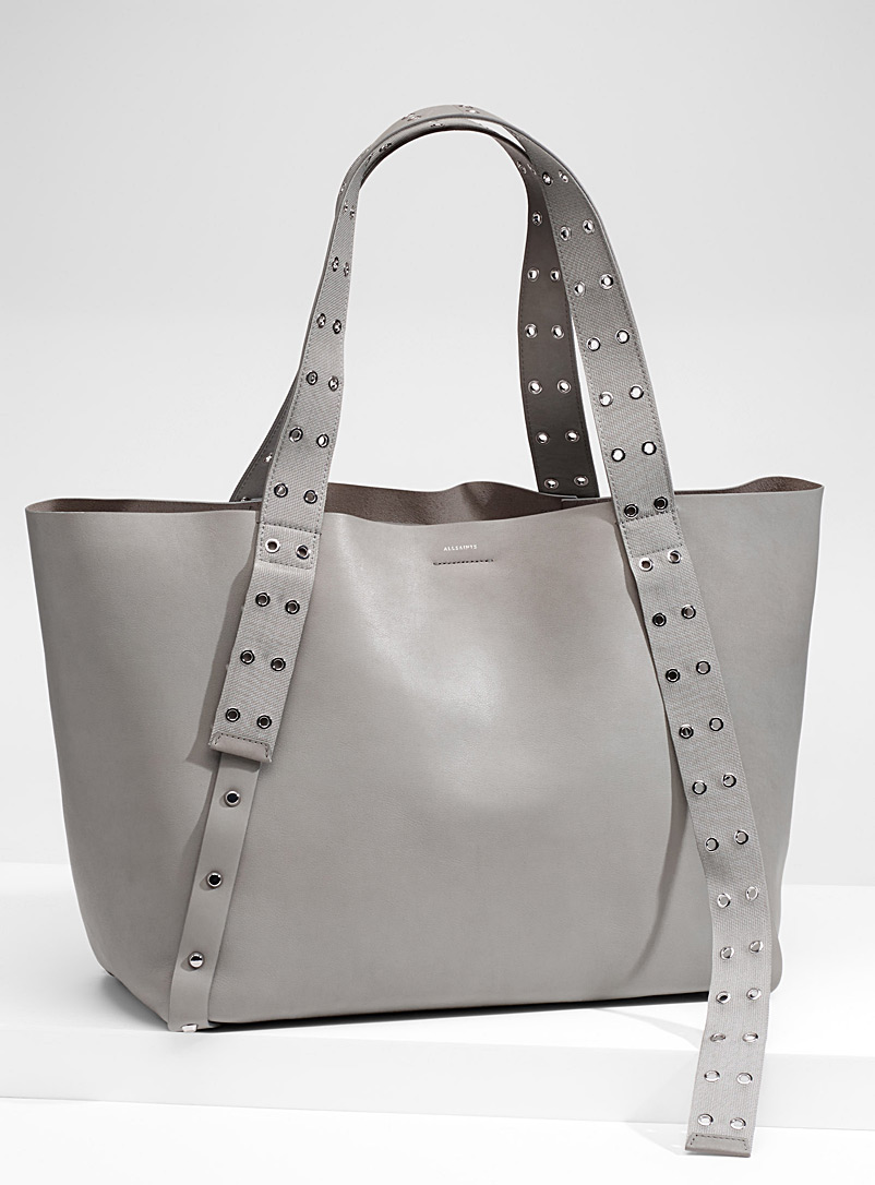 Sid studded tote - Designer Bags - Light Grey