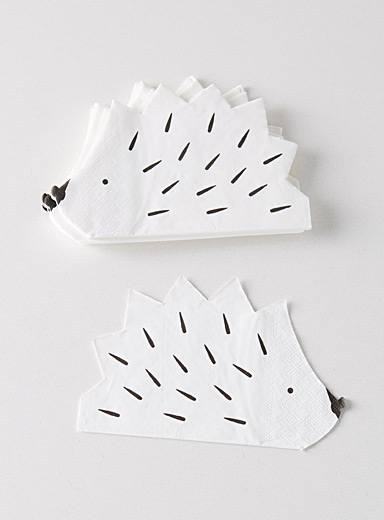 Adorable hedgehog paper napkins  32 x 22 cm. Pack of 20.