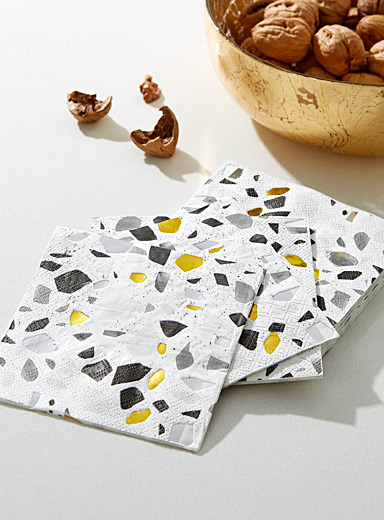 Terrazo paper napkins <br>25 x 25 cm. Pack of 20.