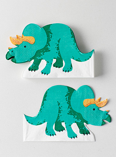 Triceratops paper napkins  21 x 32 cm. Pack of 20.