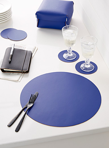 Recycled leather placemat