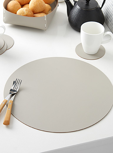 Recycled leather place mat