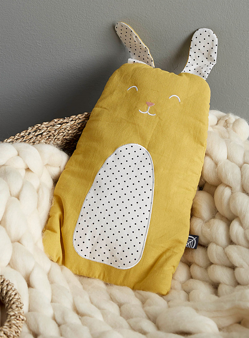 Comforting rabbit hot-water bottle - Pillow Shams & Bed Skirts - Lime Green