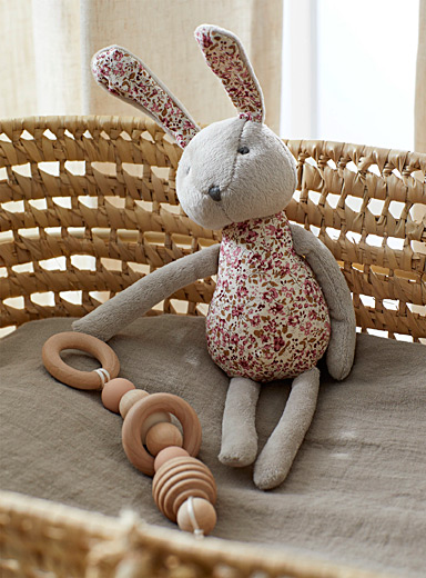 Flowery rabbit plush toy