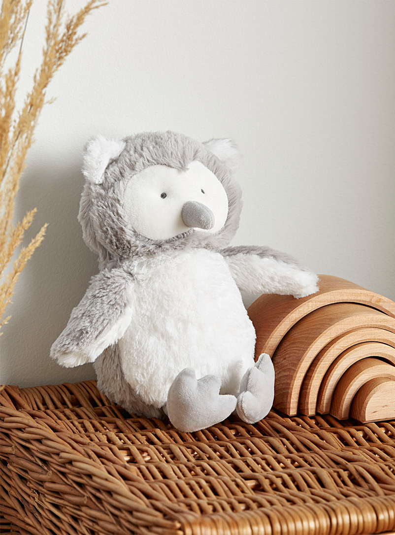 Affectionate owl stuffed toy - Toys & Stuffed Animals - Light Grey