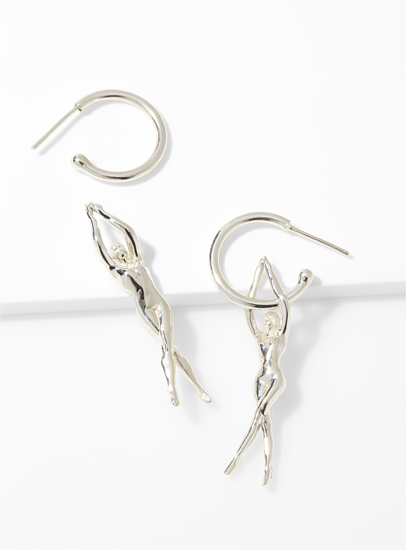 René earrings - Designer Jewellery - Silver