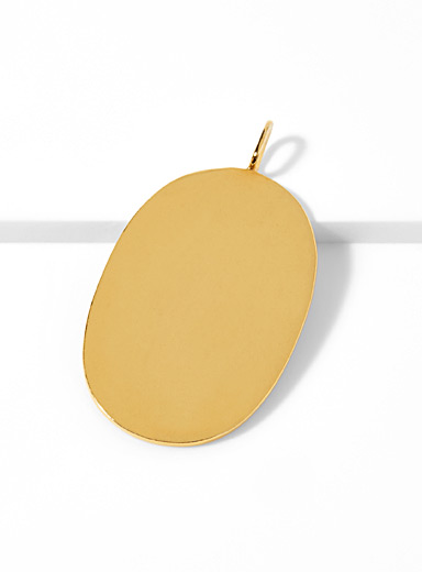 Maya Magal London Assorted Golden oval pendant for women