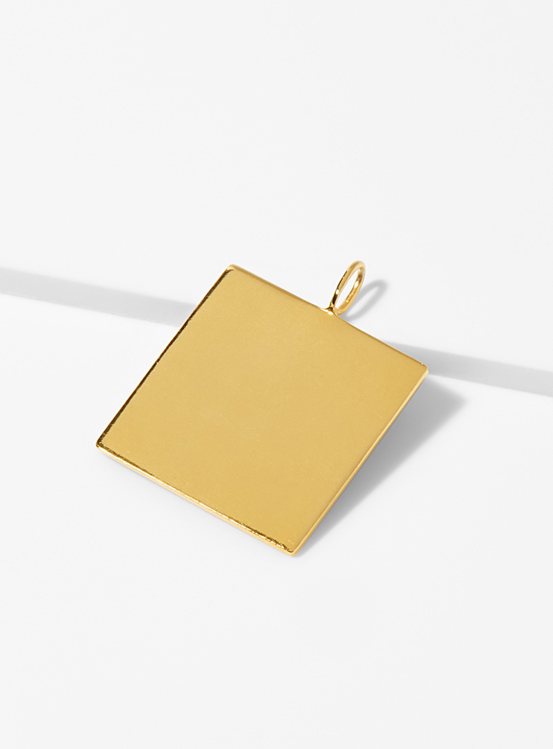 Golden square pendant - Designer Jewellery - Assorted