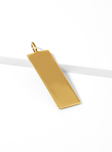 Golden rectangular pendant
