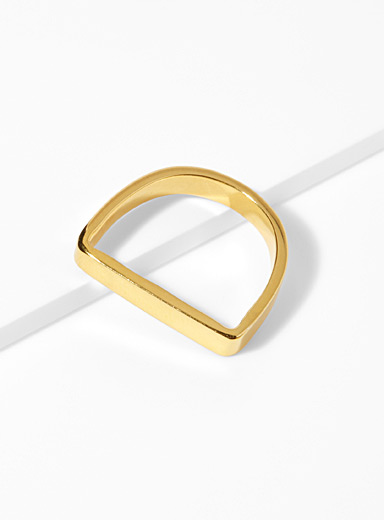 Golden Runway ring