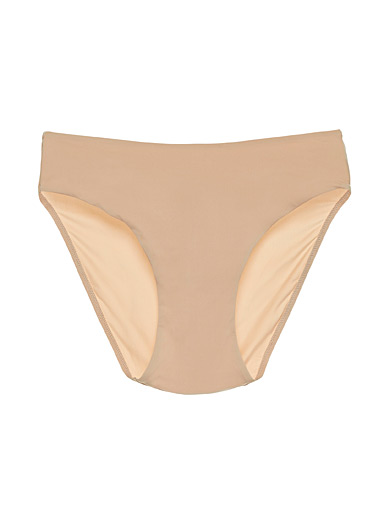 Miiyu Tan Neutral high-rise bikini panty for women