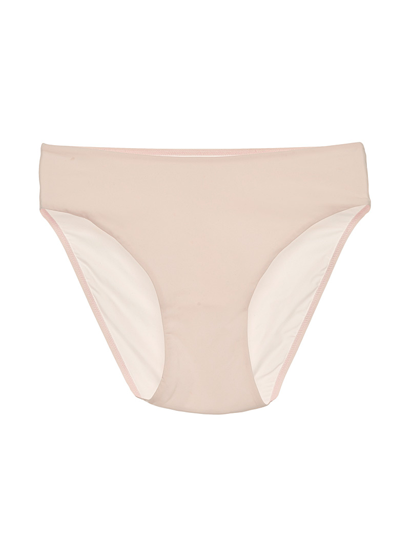 Miiyu Dusky Pink Neutral high-rise bikini panty for women