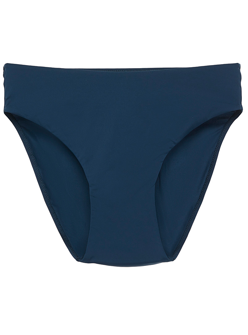 Microfibre high-waist bikini panty - Panties - Dark Blue