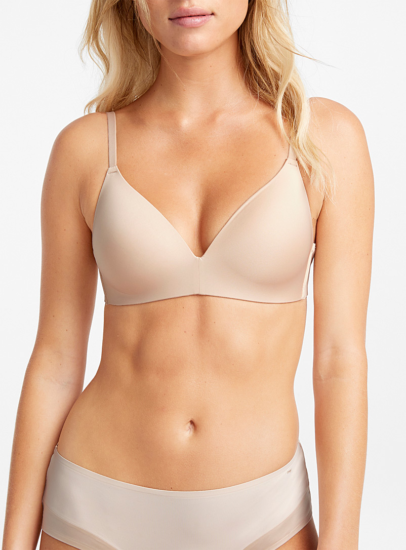 Miiyu Tan Neutral Vela wireless bra for women