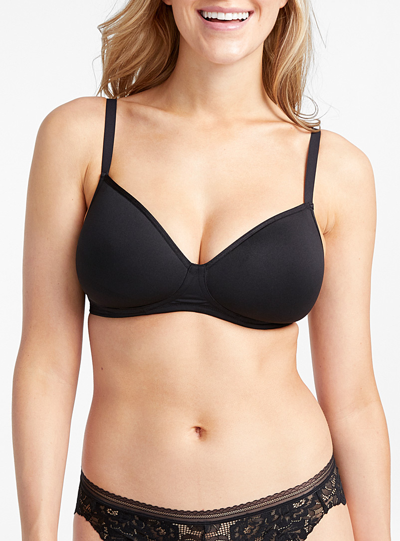 Miiyu Black Ara ultra comfortable wireless bra for women