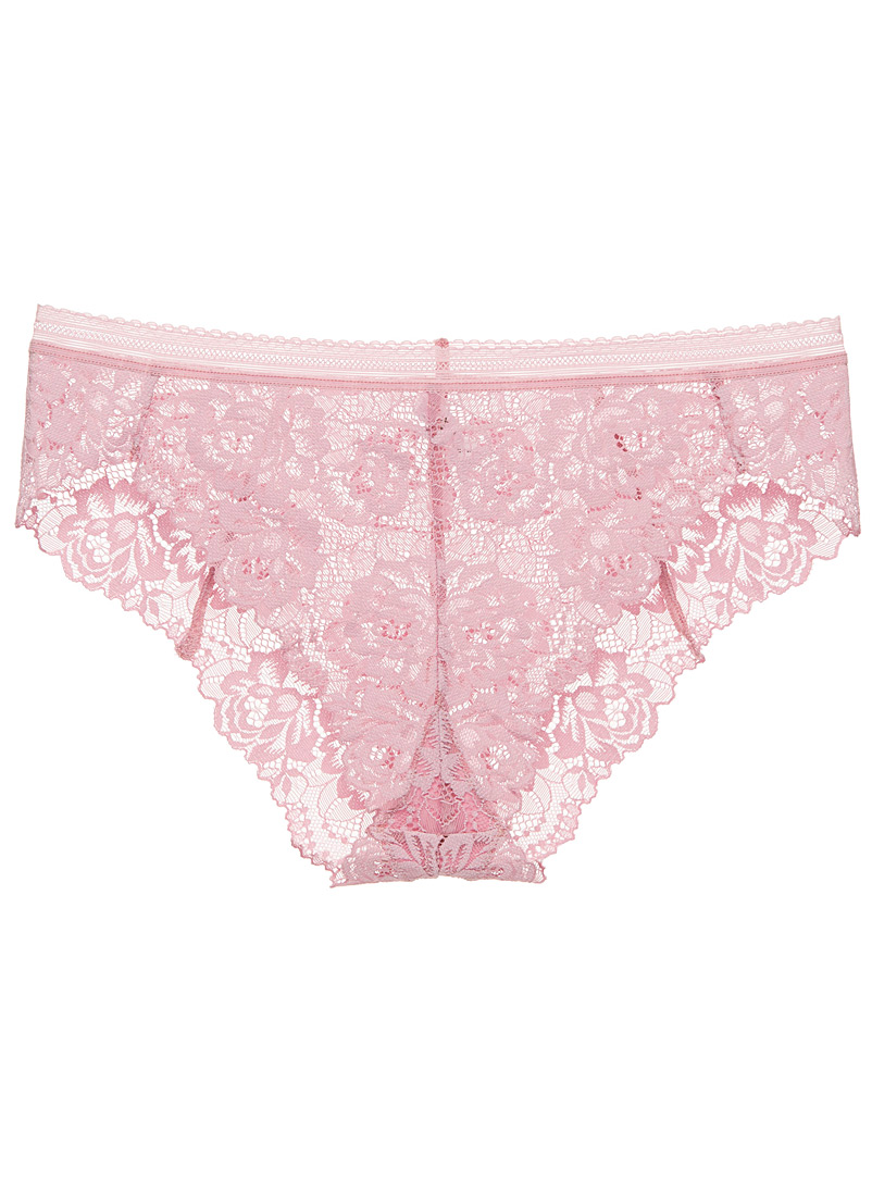 Romantic lace bikini panty - Panties - Light Crimson