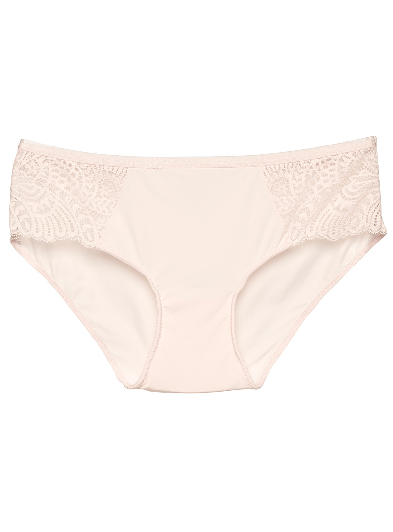 Miiyu Dusky Pink Openwork lace hipster for women