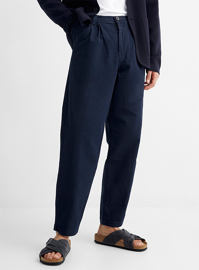 PS Paul Smith Marine Blue Navy twill workwear pant for men