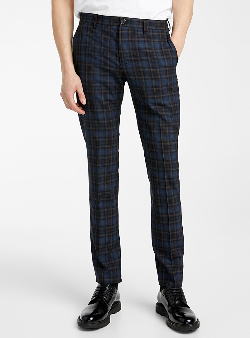 PS Paul Smith Blue Check skinny pant for men
