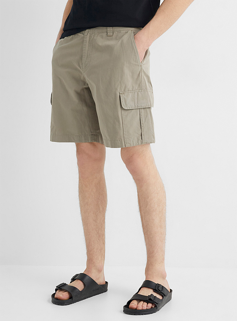 PS Paul Smith Ivory White Cotton and linen utility short for men