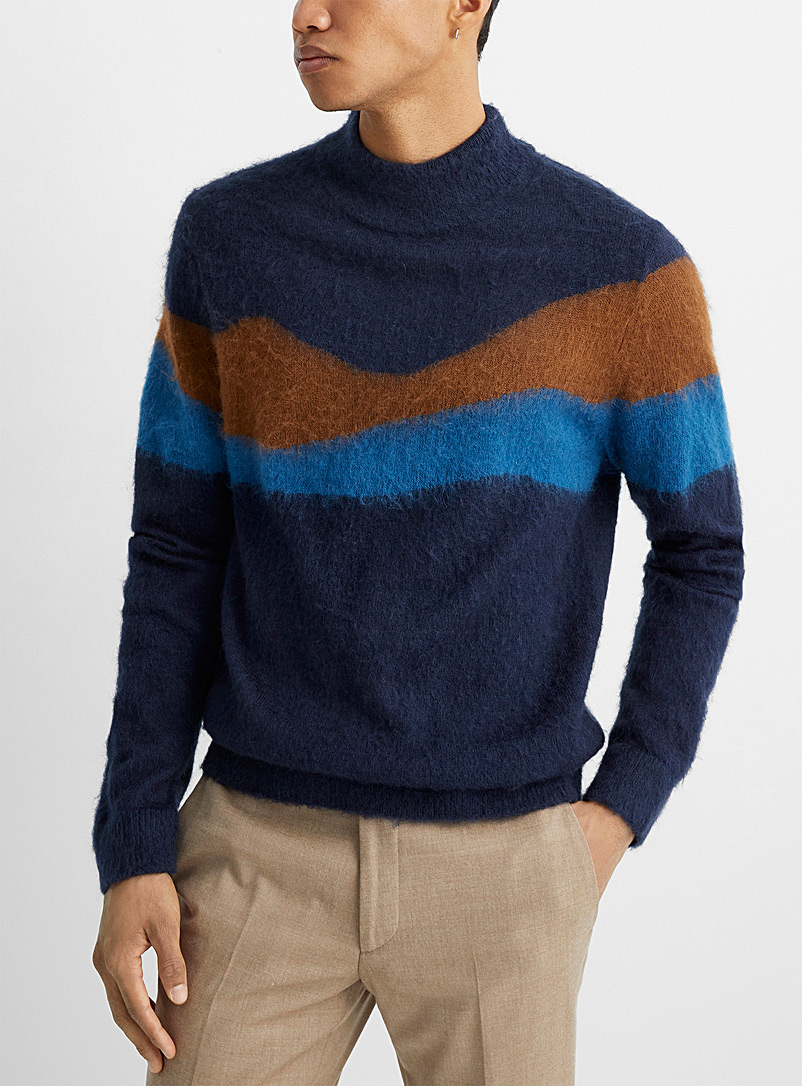 PS Paul Smith: Le pull mohair Mountain Marine pour homme