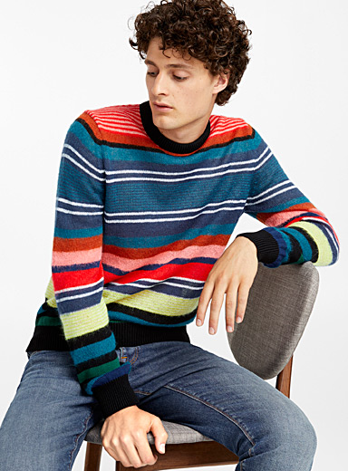 Le pull rayures pop