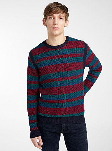 PS Paul Smith Blue Honeycomb sweater for men