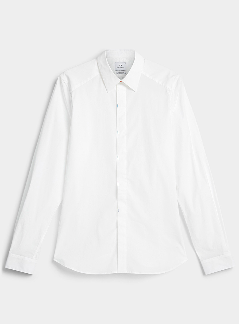 PS Paul Smith White Colourful accent shirt for men