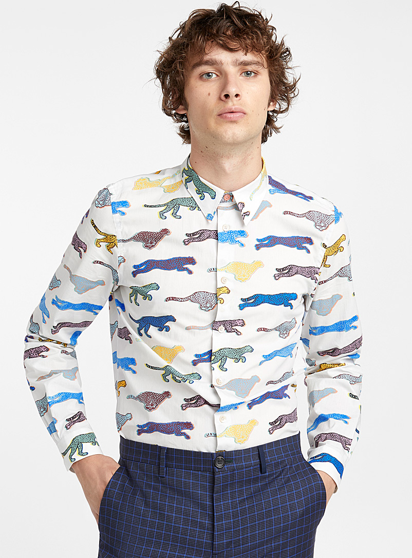Live Faster colorama shirt - PS Paul Smith