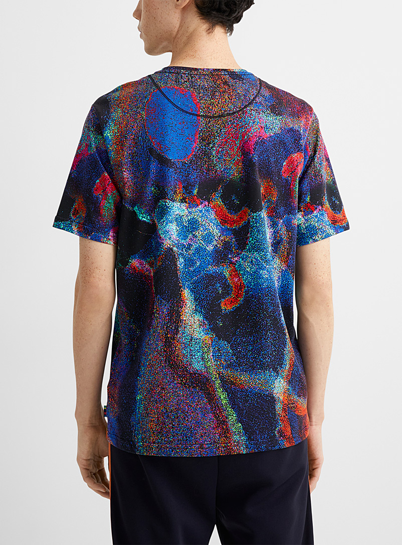 PS Paul Smith Blue Speckled colours printed T-shirt for men