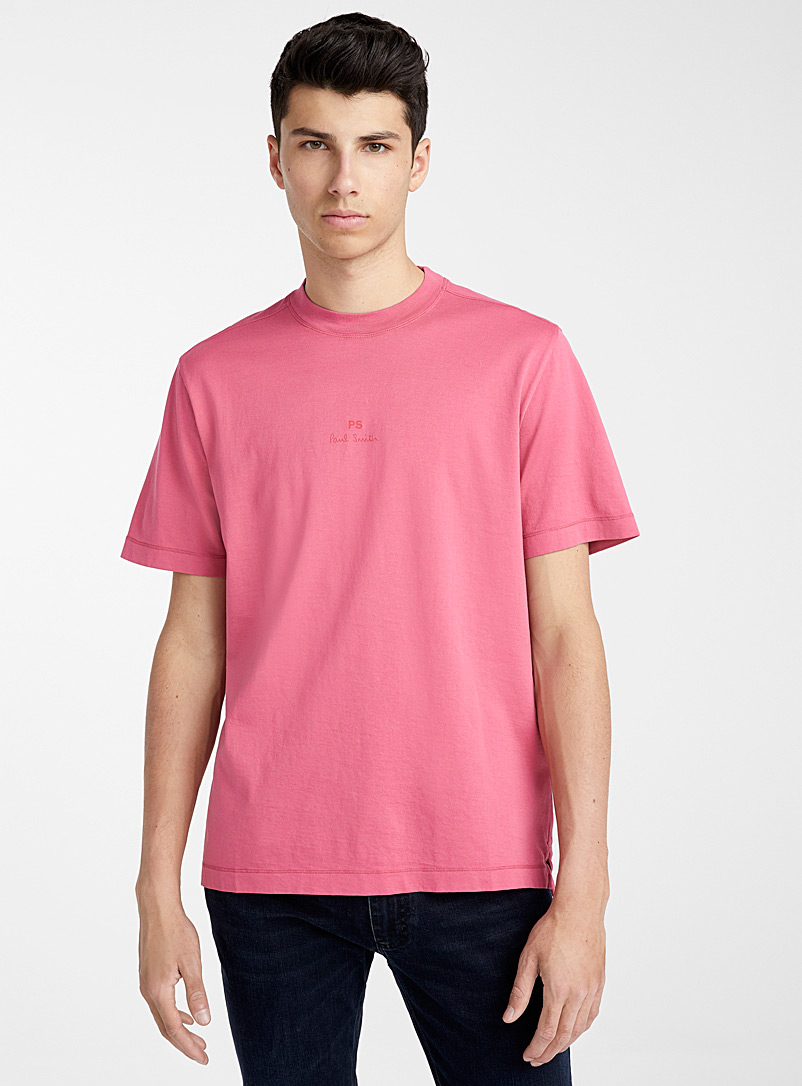 PS Paul Smith Pink Logo T-shirt for men