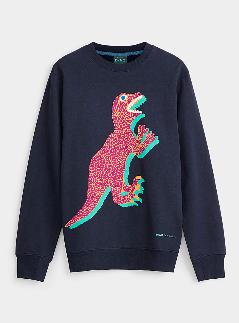 PS Paul Smith Marine Blue Dino sweatshirt for men