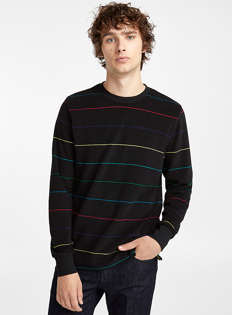 Le sweat à rayures - PS Paul Smith - Noir