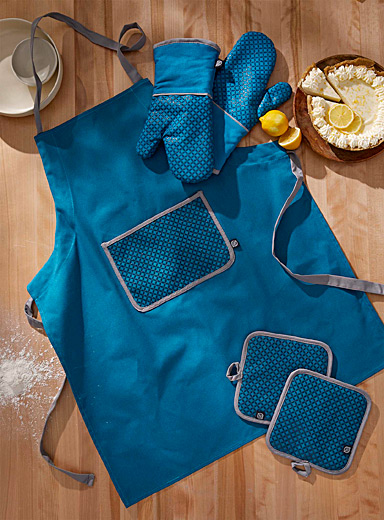 Blue wave silicone oven mitts  Set of 2