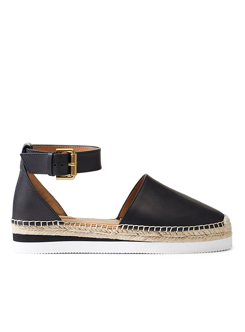 See by Chloé Black Glyn black espadrilles for women