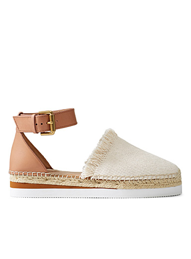 See by Chloé Cream Beige Glyn ivory espadrilles for women
