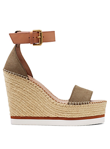 See by Chloé Khaki Platform sandals for women