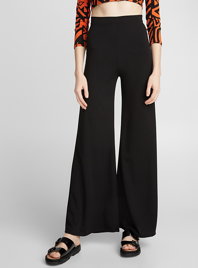 Wide stretch pant - Dress Pants - Black