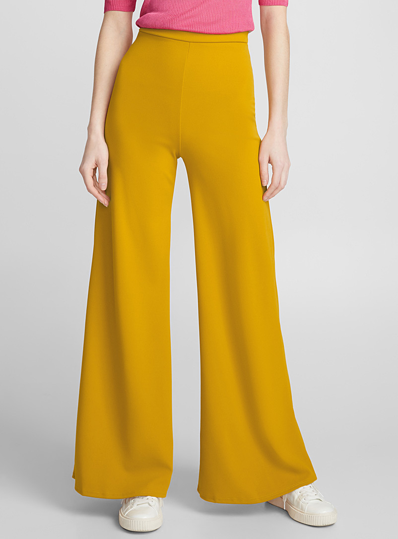 Wide stretch pant - Dress Pants - Dark Yellow